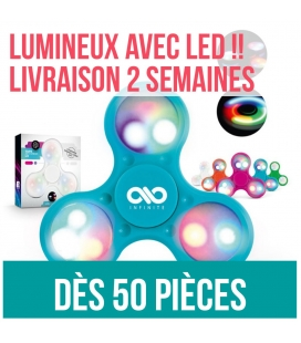 Hand spinner personnalisé Lumineux LED stock