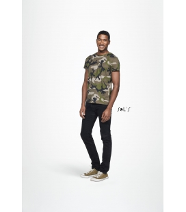 Tee-shirt homme col rond SOL'S - 150g/m² - CAMO MEN