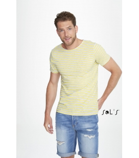 Tee-shirt homme col rond rayé SOL'S - 150g/m² - MILES MEN