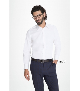 Chemise homme stretch manches longues SOL'S - BRIGHTON