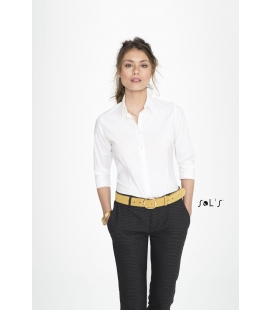 Chemise femme stretch manches 3/4 SOL'S - EFFECT