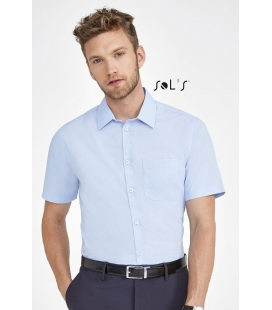 Chemise homme popeline manches courtes BRISTOL FIT