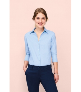 Chemise femme stretch manches 3/4 SOL'S EFFECT