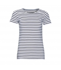 Tee-shirt femme col rond rayé SOL'S MILES WOMEN